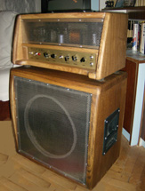 Custom Tube Amp - case made of oak and steel
